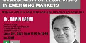 Management of Legal Risks in Emerging Markets Including Iran